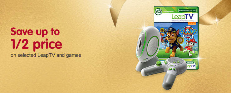 Save up to half price on selected Leapfrog
