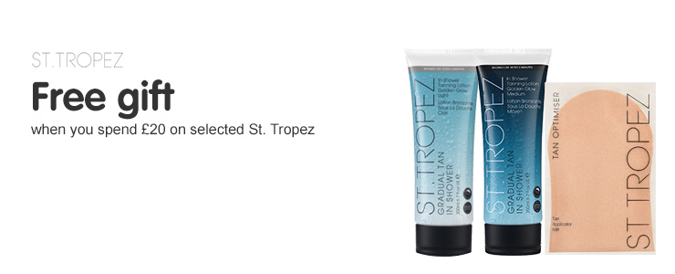 Free gift when you spend £20 St tropez