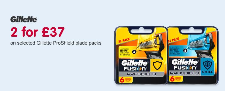 Gillette 2 for 37pound