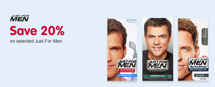 Just for men save 20%