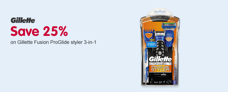 Save 25% on the Gillette Fusion ProGlide Styler 3-in-1
