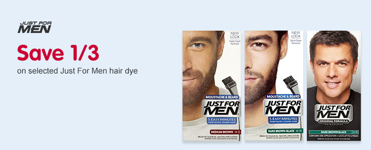 Save 1/3 on Just for Men