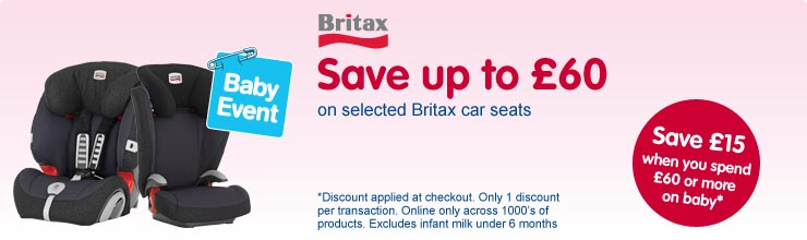 Save up to £60 on selected Britax car seats