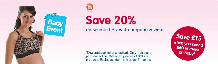 Save 20% on Bravado pregnancy wear