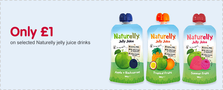Only £1 on selected Naturelly jelly juice drinks
