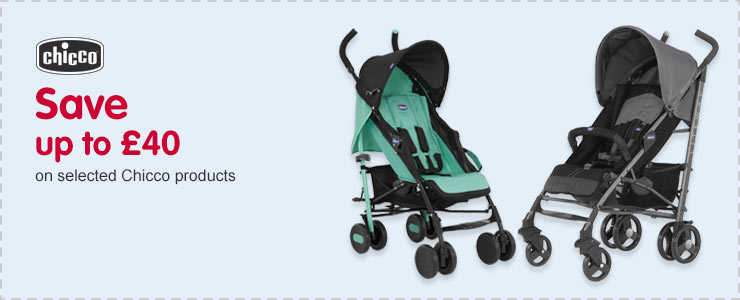 Save up to £40 on selected Chicco products