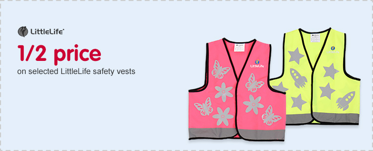 Half price on selected LittleLife safety vests