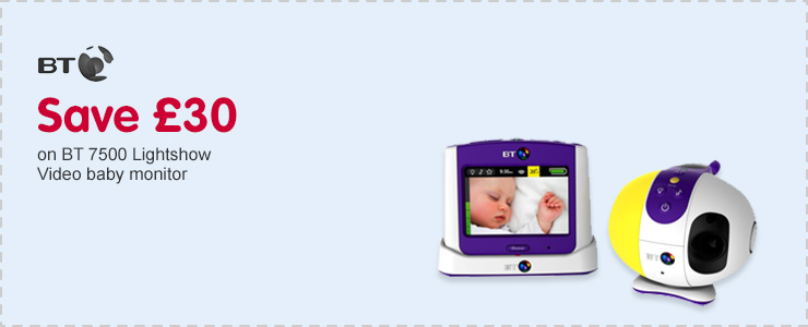 Save £30 on BT video baby monitor 7500 lightshow