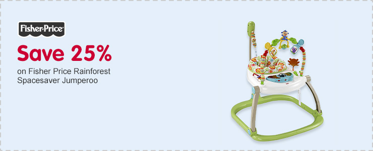 Save 25% on Fisher Price Rainforest Spacesaver Jumperoo