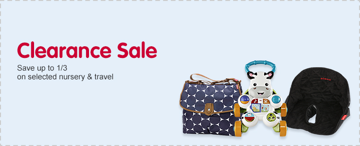 Save up to 1/3 on selected nursery & travel