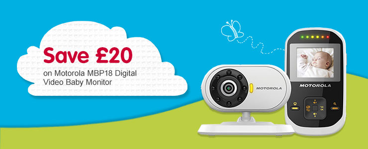 Save £20 on Motorola MBP18 Digital Video Baby Monitor