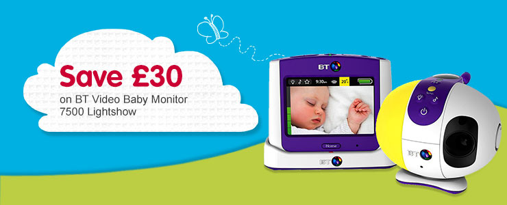 Save £30 BT 7500 Lightshow Video Baby Monitor