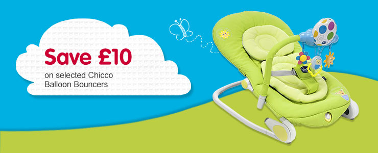 Save £10 on selected Chicco Balloon Bouncers