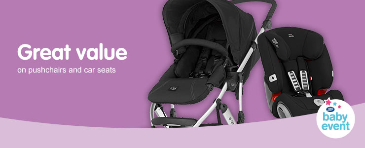 Great Value on selected pushchairs and carseats