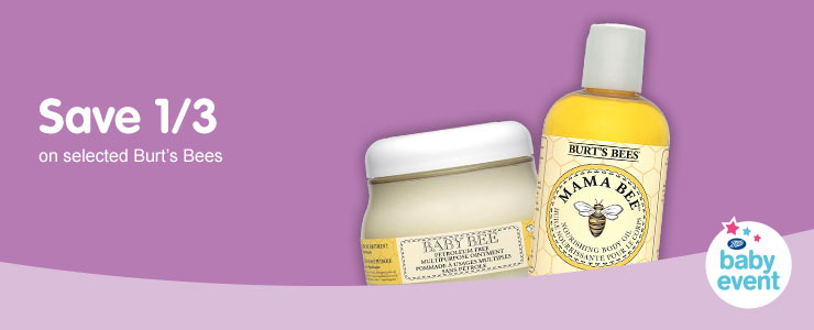 Save one third on selected Burt's Bees