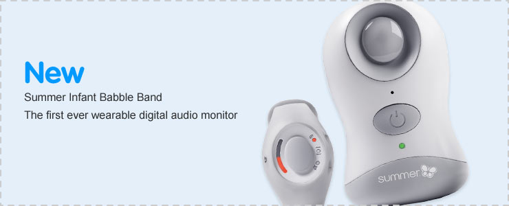 New Summer Infant Babble Band Wrist Baby Monitor