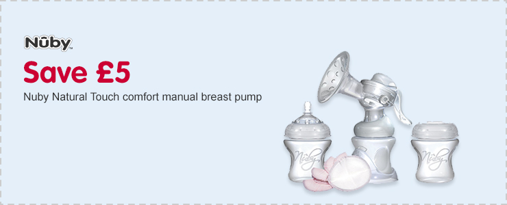 Save £5 on Nuby Natural Touch comfort manual breast pump