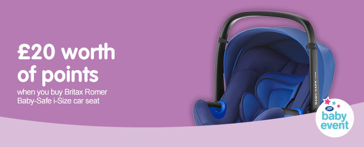 £20 worth of points when you buy Britax Romer i-Size car seat