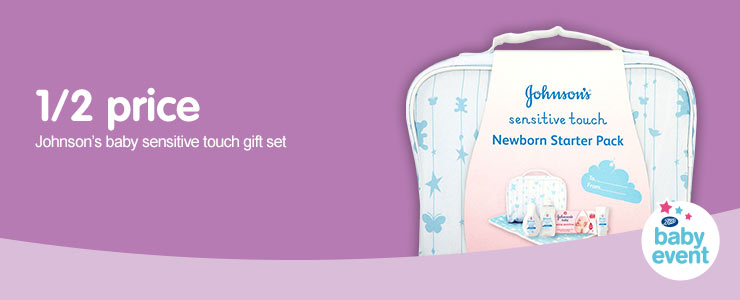 Online only - Half price on Johnson's Baby Sensitve Touch Gift Set