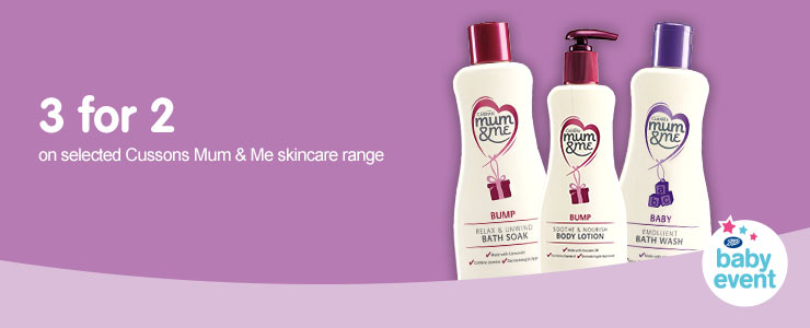 3 for 2 on selected Cussons Mum & Me skincare range
