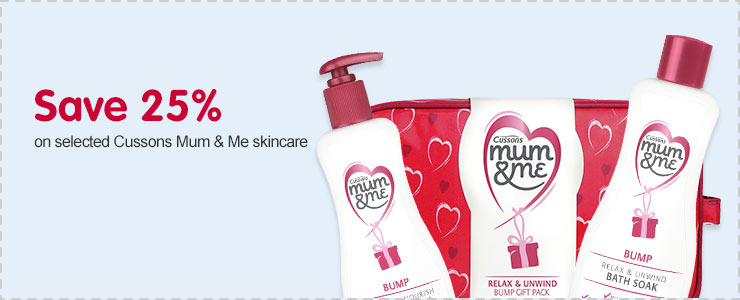 Save 25% on selected Cussons Mum&Me
