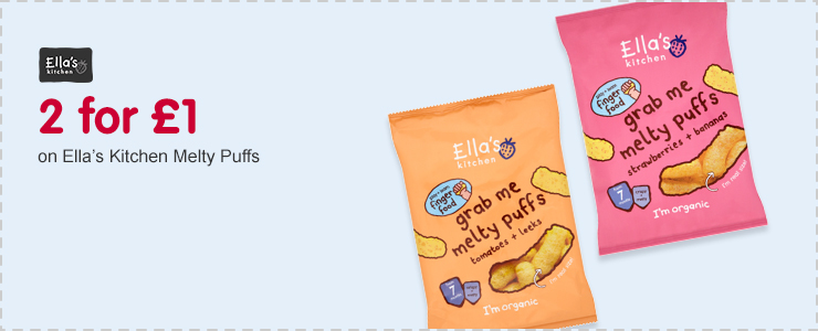 2 for £1 on Ella's Kitchen Melty Puffs