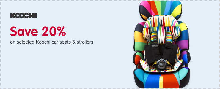 Save 20% on selected Koochi car seats & strollers