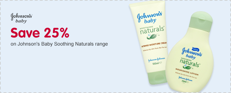 Save 25% on Johnson's Baby Soothing Naturals range