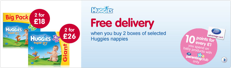 Free delivery on nappies