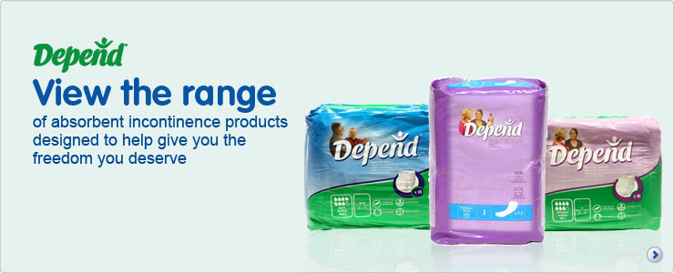 Depend, view the range of absorbent incontinence products designed to give you the freedom you deserve