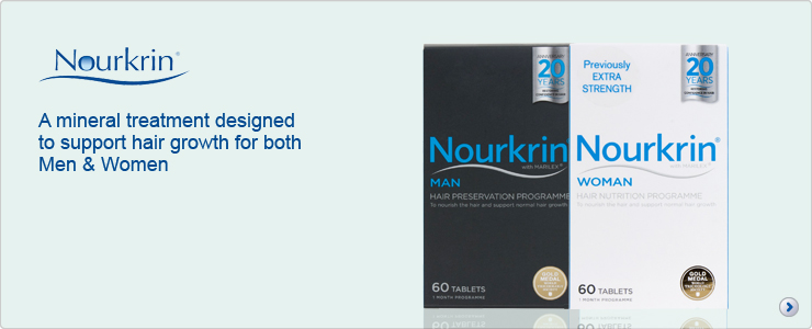 Nourkrin, a natural mineral treatment to support hair growth for both men and women