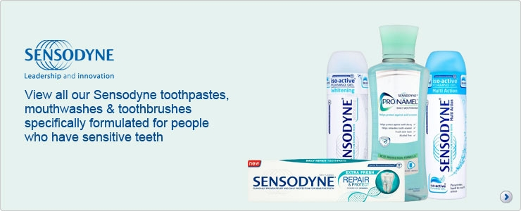 Sensodyne toothpastes, mouthwashes and toothbrushes