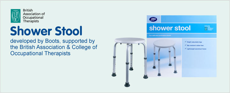 Shower stool developed by Boots