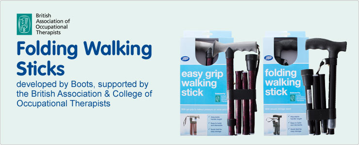 Boots folding walking sticks