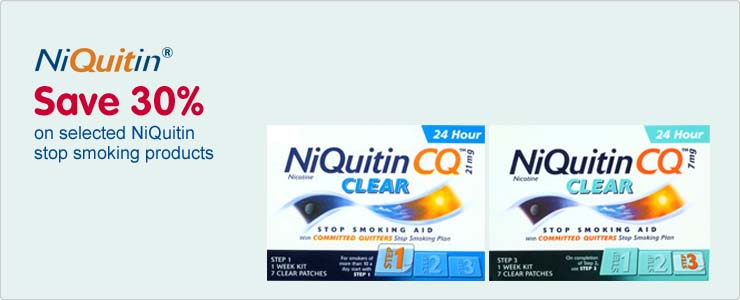 Save 30% on selected NiQuitin