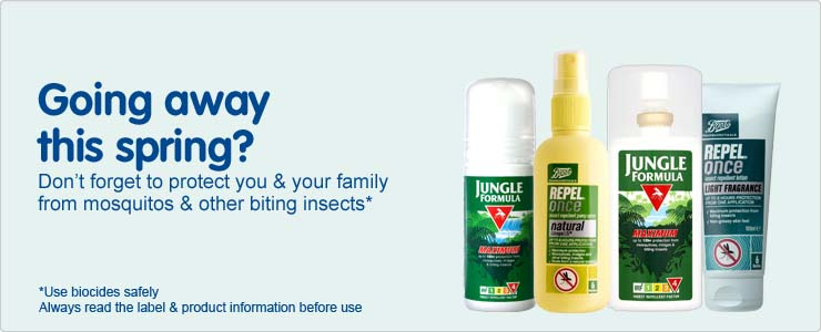 Going away this spring. don't forget to protect you and your family from mosquitos and other biting insects
