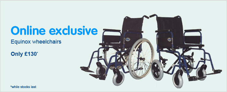 Online exclusive Equinox Wheelchairs for only one hundred and thirty pounds