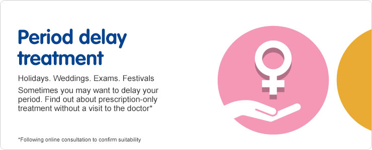 Boots Period Delay Clinic for prescription only medicine without visiting a doctor