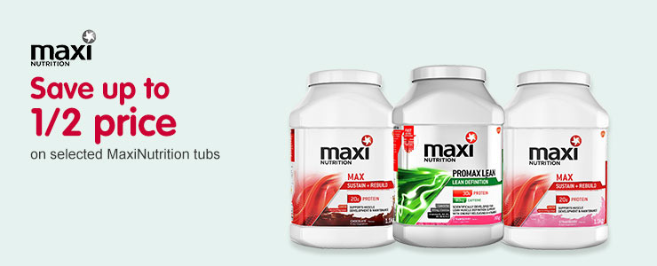 Half price on selected MaxiNutrition