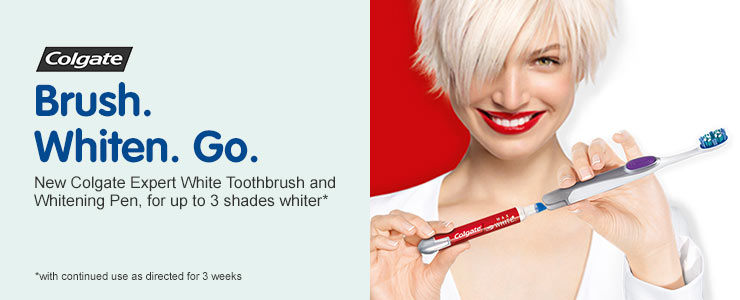 Colgate Toothbrush and built-in Whitening Pen