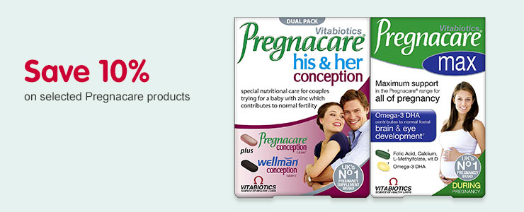 Save 10% on selected Pregnacare products