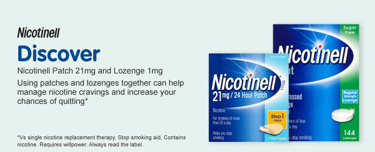 Discover Nicotinell Patch 21mg and Lozenge 1mg