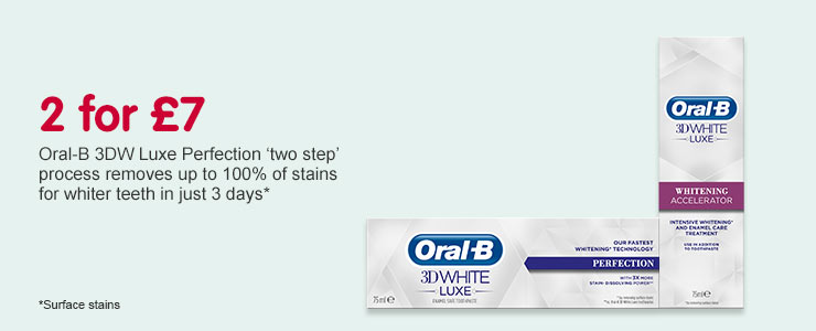 2 for £7 on Oral B 3DW Luxe
