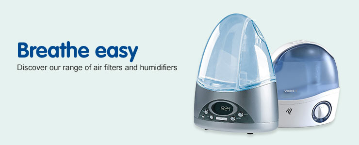 Breathe easy - Discover our range of air filters and humidifiers