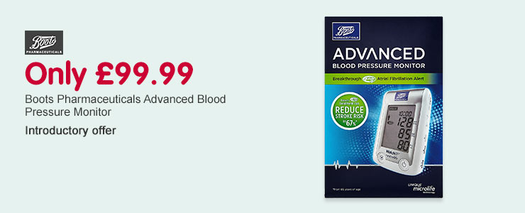 Intro Offer: Only £99.99 on the Boots Pharma Advanced BPM