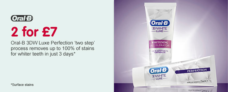 2 for £7 on Oral-B 3D Luxe Perfection
