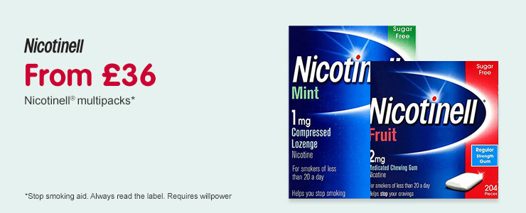 From £36. Nicotinell multipacks