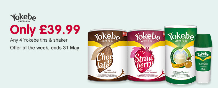 Buy 4 Yokebe tins and a shaker for £39.99