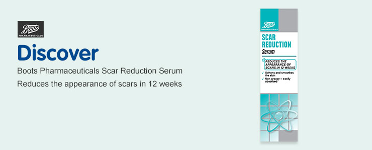 Discover Boots Pharmaceuticals Scar Reduction Serum