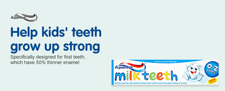 Help Kids' teeth grow strong with Aquafresh